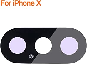 Johncase New OEM Rear Back Camera Glass Lens Cover w/Dustproof Net + Adhesive Glue Replacement Part Compatible for iPhone X (All Carriers)