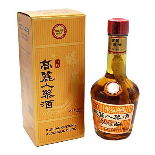 2er Pack (2x700ml) Lotte Koreanische Spirituose mit Ginseng Wurzel 28% vol. (Papa Vo ®)
