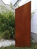 Zen Man Edelrost Garten Sichtschutz aus Metall 1mm Rost Gartenzaun Gartendeko edelrost Sichtschutzwand 150/125 * 50cm 031997-1