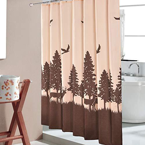 No logo NZQYL 180 * 180cm Dicke wasserdichte Polyester Duschvorhang for meta Busi Deer Druck Toilette Bad Trennwand