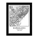 Nacnic Stadtplan Poster von Barcelona im nordischen Stil.
