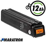 Maratron E-Bike Akku für Pedelec 24V 12Ah (schwarz) für u.a. Trio Phylion MiFa Rex Prophete Samsung (SF)