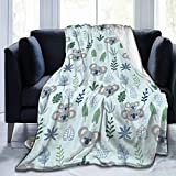 Delerain Cute Koalas Soft Throw Blanket 40'x50' Lightweight Flannel Fleece Blanket for Couch Bed Sofa Travelling Camping for Kids Adults