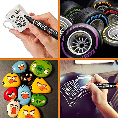 AROIC 16 Pack Paint Pens for Writing On Anything! Paint Pens for Rock, Wood, Metal, Plastic, Glass, Canvas, Ceramic and More!