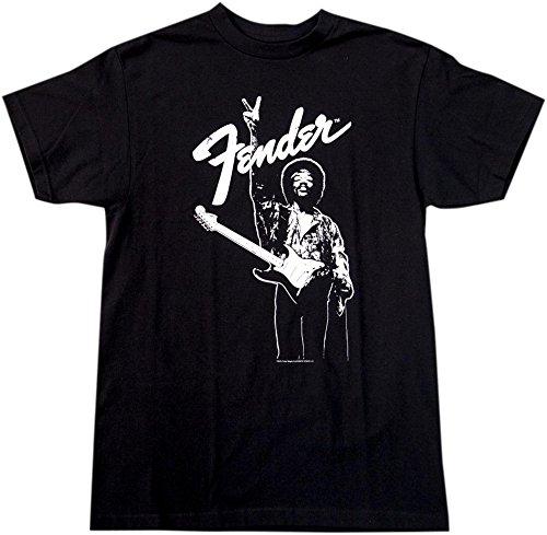 Fender Hendrix Peace Monochrome T-Shirt Black X-Large