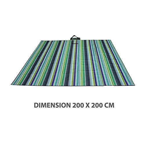 iD FOR YOU picknickdeken opvouwbaar - maat XXL - 200 cm x 200 cm - maaltijden op het veld