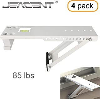Jeacent Universal AC Window Air Conditioner Support Bracket Heavy Duty, Up to 85 lbs, 4Packs