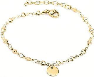 Elegante en modieuze titanium stalen armband, temperament persoonlijkheid, vergulde roestvrijstalen armband, armband
