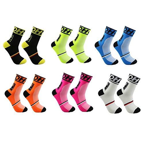 DH Sports Calcetines de ciclismo al aire libre formación de compresión fútbol corriendo hombres & mujeres calcetines deportivos