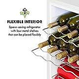 Klarstein Beersafe XL - Getränkekühlschrank, 60 Liter, C, 5 Kühlstufen: 3-10 °C, 42 dB, 2 flexible Metallböden, LED-Licht, Kühlschrank für Flaschen, Mini Bar, weiß - 4