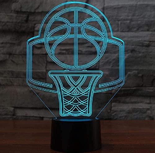 Usb 16 Color Cambiante Canasta De Baloncesto Modelo Led 3D Luz De Noche Mesa Lámpara De Escritorio Decoración Del Hogar Lámpara De Noche Creativa Control Remoto