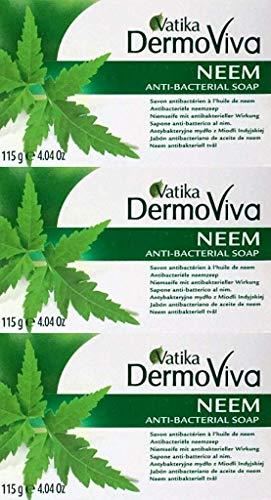 Dabur Vatika Neem Anti-batterico Sapone 115g x 3 Confezioni