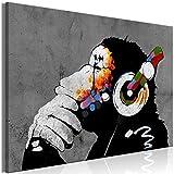 decomonkey Bilder Banksy Dj Afee 120x80 cm 1 Teilig