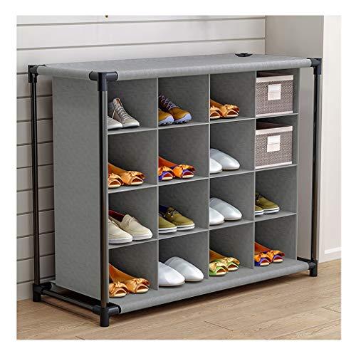 kiter Zapatera Simple Zapatero Bastidores de múltiples Capas del hogar Zapatos del gabinete armarios de Puertas Polvo de Almacenamiento en Rack Armario Estante del Zapato Zapatero (Color : Gray)