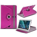 i-Tronixs (Hot Pink) NVIDIA Shield K1[20,3cm] Fall [Standfunktion] für NVIDIA Shield K1[20,3cm] Tablet PC Hülle Cover Tablet Stabiler Synthetisches PU-Leder 360° Drehbar Fall mit 4Federn