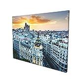 Madrid España Sunset Lienzo Pintura Arte Moderno Salón Decoración