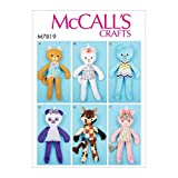 McCall Pattern Company McCall's M7819 Animal Stuffed Toy Sewing Patterns, All Sizes, One Envelope