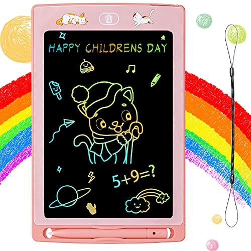 Tavoletta Grafica LCD Scrittura 8,5 Pollici Colorato, Tavolo da Disegno Cancellabile, Lavagna da Disegno Portatile Scheda Doodle Blocco da Tavoletta da Scrittura per Bambini Adulti Scuola Ufficio