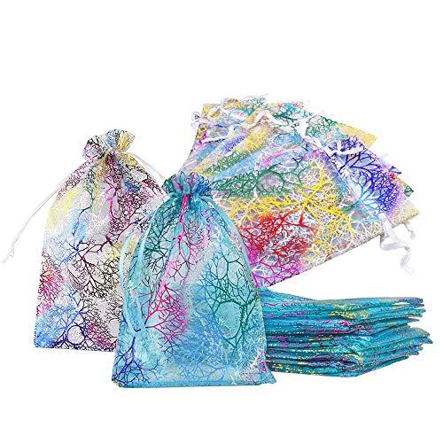 Bolsitas Para Regalos Coral Pattern Organza Bags, Bolsas par