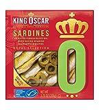 King Oscar Royal Selection Sardines in Extra Virgin Olive Oil, Sliced Spanish Manzanilla Olives,...