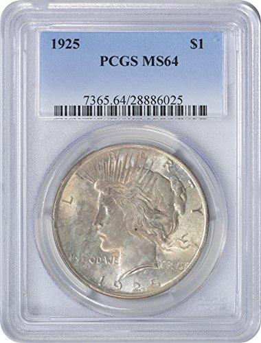 1925-P Peace Dollar, MS64, PCGS