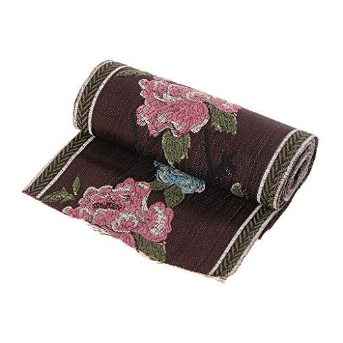 F Fityle Kanten lint van polyester, satijnen lint voor tassen, bruidsjurk, jeans, ondergoed, versieringen, DIY, koffie - 120 x 5000 mm