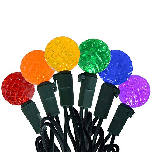 Jingle light Multi Color 120 Lights LED Battery Diamond Globe String Lights G12 String Lights Christmas Fairy LED Lights for Party, Home, Patio, Lawn, Wedding Decoration (Green Wire, Waterproof)