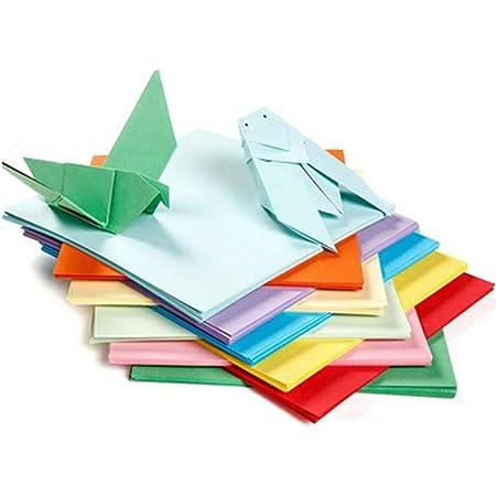 BJ-SHOP Origami,Papel Origami 100 Hojas de Doble Cara 10CM de ...