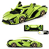 True Representation Sports Car SIA MOC Technique Building Blocks Set,Building Project for Adults Collectible Model, Race Car Engineering Toy(1150+pcs)