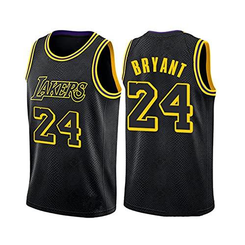 GFQTTY Camiseta De Baloncesto Sin Mangas, Lakers # 24, Resistente Al Desgaste, Camiseta De La NBA para Hombre, Poliéster, Fino, Bordado Transpirable para Hombre