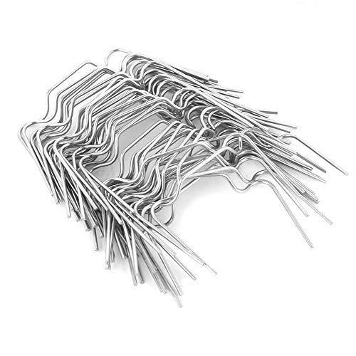 50 stücke Edelstahl W Typ Dickes Gewächshaus Verglasung Clips Werkzeug W Frühling Schnalle Ausrüstung für Plexiglasplatten auf Dem Gewächshaus