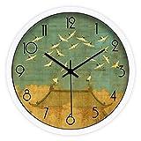 xiaodou Grandes Reloj Pared Moderno Reloj de Pared de Silencio Creativo Reloj de Pared Reloj de Pared Redondo Arte clásico del Silencio Reloj de Pared de la Sala Dormitorio Reloj de Pared Grande
