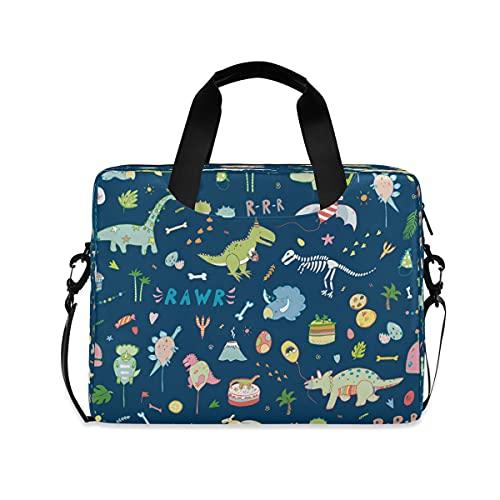 JMbui Laptoptasche, 39,6 cm (15,6 Zoll), niedliches Dinosaurier-Zitat, Computer-Messenger Bag mit Schultergurt für Männer und Frauen, Reisen