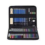Lápices de Colores Sketch Set Lápices de colores 51pcs Boceto pintura soluble en agua de color plomo Arte Suministros de escritorio del arte Traje Pintura Lápiz Set Acuarela Pintura para Colorear Plum
