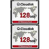 Cloudisk - Scheda di memoria flash compatta 2 x CF, prestazioni per fotocamera digitale vintage 2PACK 128MB Small Capacity