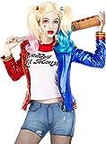 Funidelia | Kit Disfraz Harley Quinn - Suicide Squad Oficial para Mujer Talla XS ▶ Superhéroes, DC Comics, Suicide Squad, Villanos - Color: Azul - Licencia: 100% Oficial