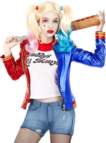 Funidelia | Kit Disfraz Harley Quinn - Suicide Squad Oficial para Mujer Talla S ▶ Superhéroes, DC Comics, Suicide Squad, Villanos - Color: Azul - Licencia: 100% Oficial