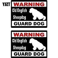 Yang1995 15 * 11.5センチメートル漫画オールド・イングリッシュ・シープドッグ警告番犬楽しい再帰反射ウィンドウステッカーデカール (Color : 1)