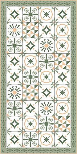 Deco&Fun - Alfombra Vinílica Hidráulica Zule Verde 70x140cm -Alfombra de Vinilo hidráulica - Alfombra Cocina hidráulica - Alfombras de Vinilo - Alfombras PVC