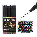 HEELPPO Rotuladores Acuarelables Rotuladores para Mandalas Colores Acuarelables Lapices Colores Acuarelables Bolígrafos De Color para Niños Bolígrafos De Fieltro Lavables para Niños 60pcs
