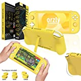 Orzly Grip Case for Nintendo Switch Lite – Case with Comfort Padded Hand Grips, Kickstand, Pack of Thumb...