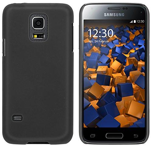 mumbi Custodia compatibile con Samsung Galaxy S5 mini, nero opaco