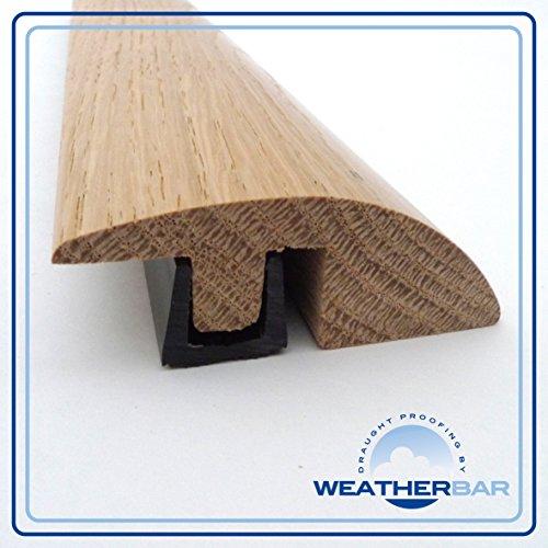 Weatherbar – Perfil de transición para suelos de 15-18 mm (altura ajustable, roble laqueado)