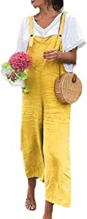 Women Casual Jumpsuit Overalls Baggy Bib Pants Plus Size Wide Leg Rompers