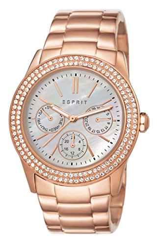 Esprit Damen-Armbanduhr Peony Analog Quarz ES103822014 Rose gold