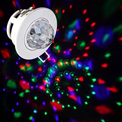 Timetop 3W Full Color LED Voice-activated Rotating RGB Ceiling Stage Light DJ Disco Lamp