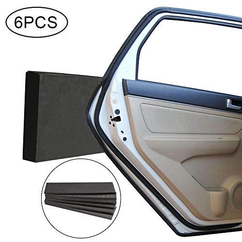 Faburo 6 pz Protezione Porte Auto Paracolpi Garage Pannelli Adesivi Set, Ammortizzanti Protettiva per Auto Protezione a Muro per Porta Auto, Anticollisione Profilo paracolpi di parcheggi