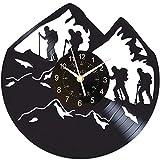 CHENs Reloj De Pared De Vinilo De Escaladores De Montaña, Regalo Para Hombre De Escalada, Mecanismo Silencioso, Reloj De Pared Moderno, Regalo De Cumpleaños De Escalada Para Niño