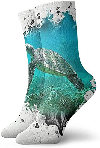 zhang Sea Turtles Short Crew Socks Chaussettes habillées Chaussettes athlétiques