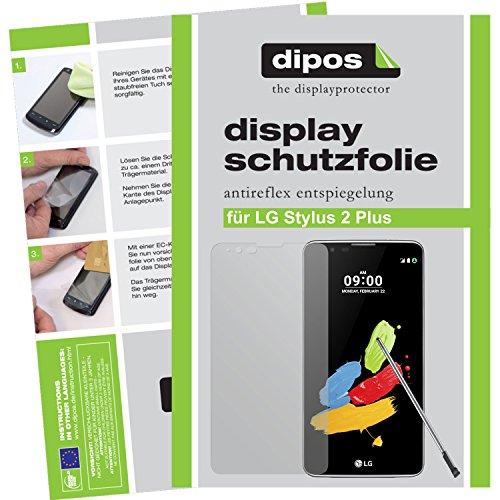dipos I 6X Schutzfolie matt kompatibel mit LG Stylus 2 Plus Folie Bildschirmschutzfolie
